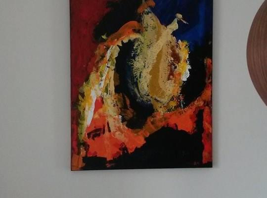 """Schilderij """"Loeks the Horses of ome"""" heeft een plaats gevonden."""
